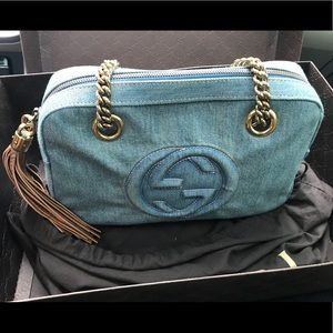 Gucci Soho Denim shoulder Bag - Authentic